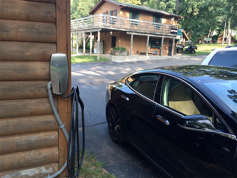 2 tesla charging stations cedar lodge cedar lodge. Black Bedroom Furniture Sets. Home Design Ideas