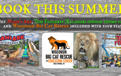 Book this summer to get Noah's Ark, Tom Foolerys, & WI Big Cat Rescue included with your stay.