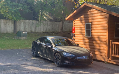 2 Tesla Charging Stations @ Cedar Lodge